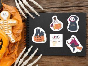 full halloween sticker collection