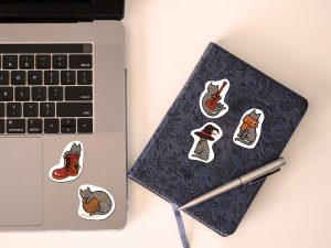 mr meow cat sticker collection