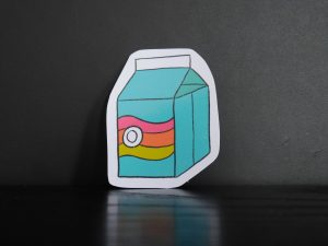 pastel pop juice box sticker