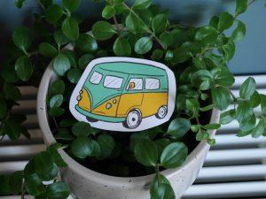 pastel summer summer van sticker