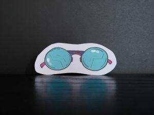vaporwave glasses sticker