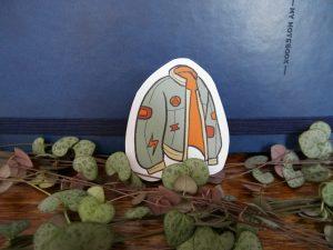 vintage jacket sticker